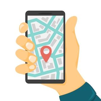 Concetto di car sharing. prenota un'auto tramite un'app sul telefono cellulare. servizio di trasporto online. concetto di viaggio. illustrazione