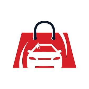 Modello di progettazione del logo del negozio di auto