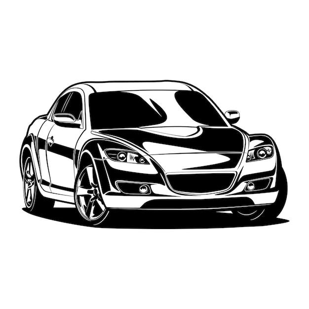 Illustrazione di sagoma auto