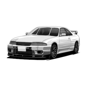 Illustrazione di sport auto