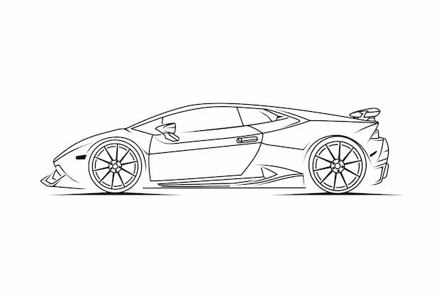 Arte della linea sportiva per auto