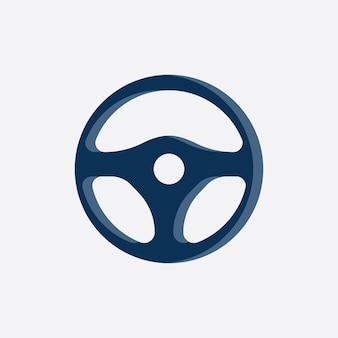 Vettore dell'illustrazione del logo del volante dell'automobile