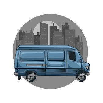 Car van city