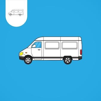 Auto furgone vettore auto va cartone animato