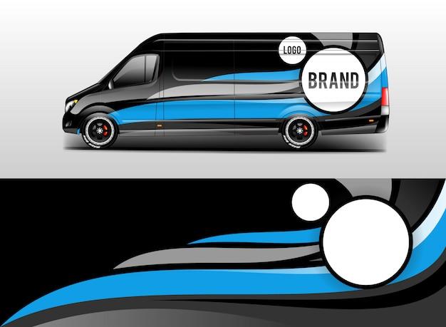 Car wrap company design vector