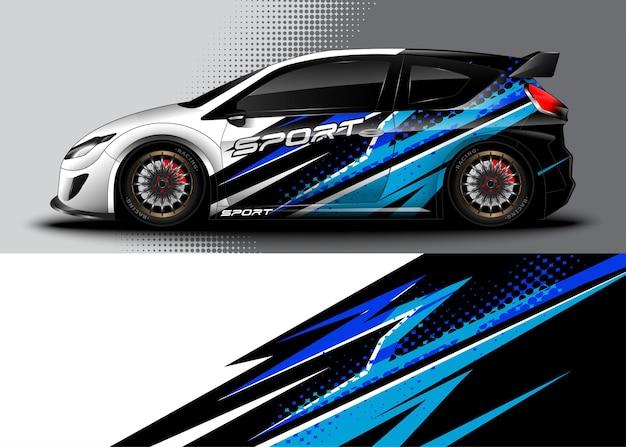 Adesivo per auto da corsa con strisce da corsa astratte beckground
