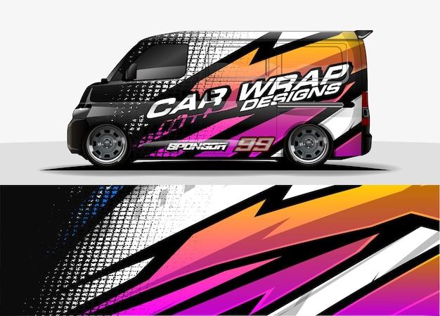 Design avvolgente per auto per adesivo in vinile per veicoli