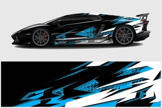 Car wrapping grafica da corsa sfondo astratto per avvolgere e adesivo in vinile