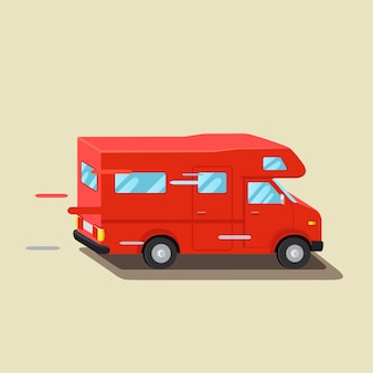Caravan da viaggio, rimorchio per veicoli. camion di famiglia, viaggio estivo. home rimorchio