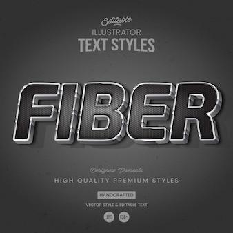 Stile di testo in fibra di carbonio