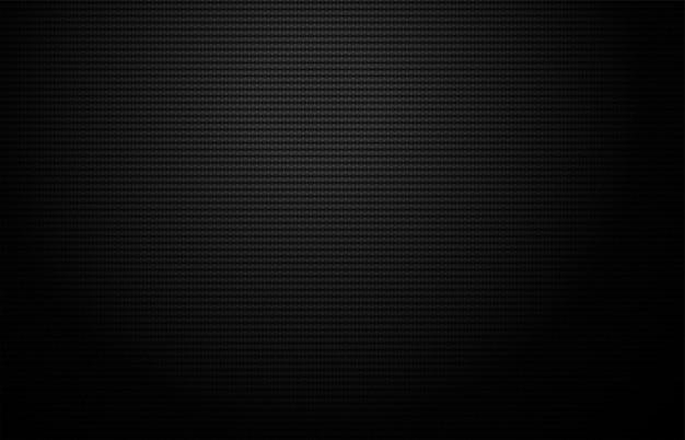 Griglia geometrica trama in fibra di carbonio. sfondo scuro