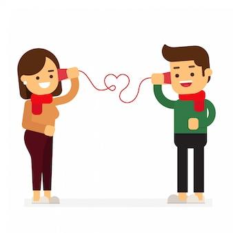 La carta delle coppie sveglie chiama il telefono di carta con tex san valentino felice