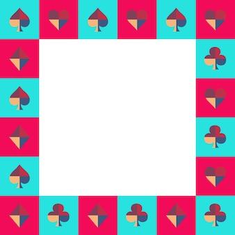 Scacchiera della carta da gioco cielo blu e bordo rosa