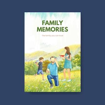 Modello di carta con il concetto di giornata internazionale delle famiglie