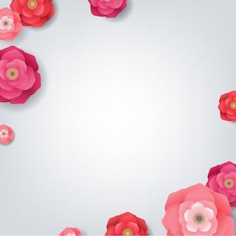 Scheda con fiori