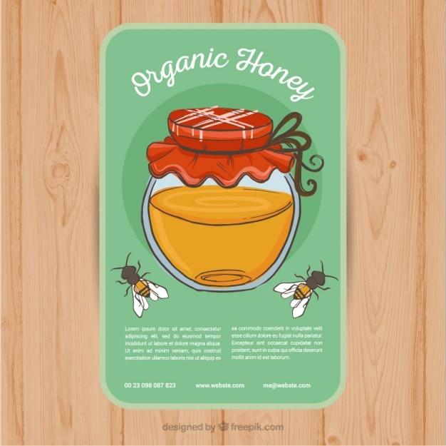 Scheda con un barattolo di miele