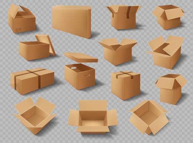 Scatole di cartone, pacchi, pacchi di cartone di consegna