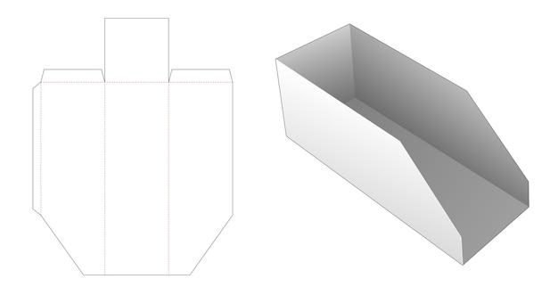 Modello fustellato vassoio pane in cartone