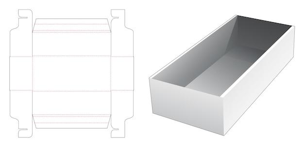 Modello fustellato vassoio pieghevole in cartone