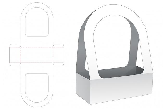 Modello tagliato del sacchetto della tenuta del cartone