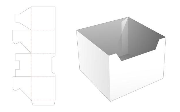 Modello fustellato della ciotola del pasto del cartone