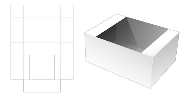 Modello fustellato del vassoio del pasto del cartone