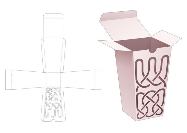 Scatola obelisco in cartone con modello fustellato di lusso linea stencil
