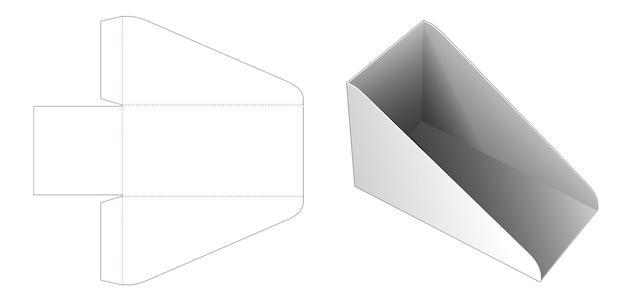 Modello fustellato di scatola di libro scaffale di cartone