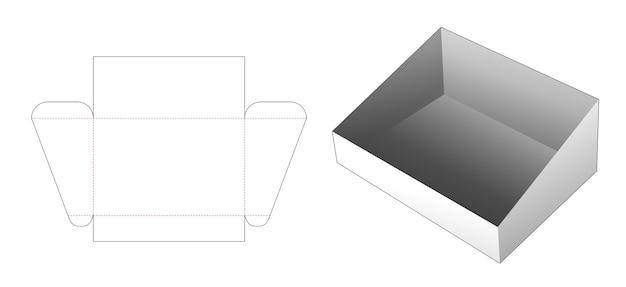 Modello fustellato per vassoio inclinato in cartone