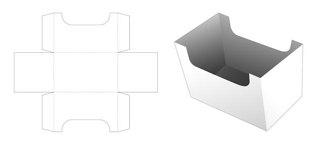 Modello fustellato di cartone di stoccaggio