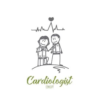 Illustrazione di concetto di cardiologo