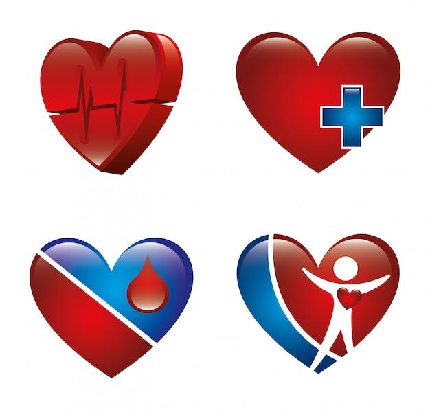 Disegno di cardiologia sopra illustrazione vettoriale sfondo bianco