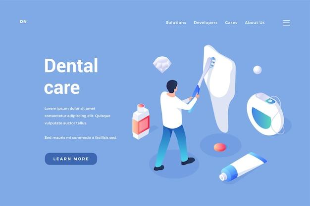 Cura e manutenzione dei denti profilassi dentale del cavo orale e rimozione del tartaro