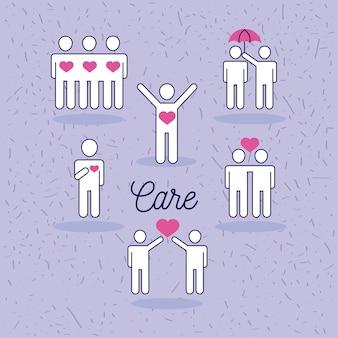 Gruppo di simboli di cura