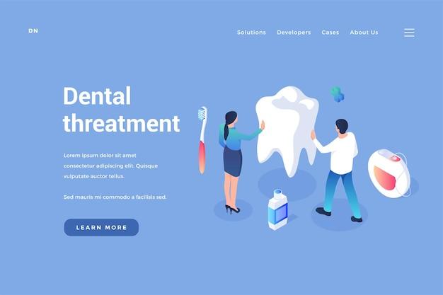 Cura e trattamento dei denti profilassi del cavo orale e rimozione del tartaro