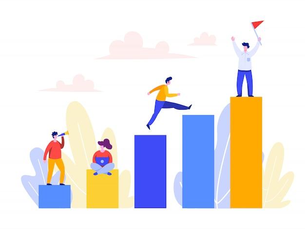 Concetto di sviluppo di carriera per landing page, interfaccia utente, web, homepage