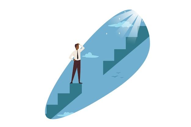 Problema di carriera, affari, illustrazione di concetto di soluzione di problemi