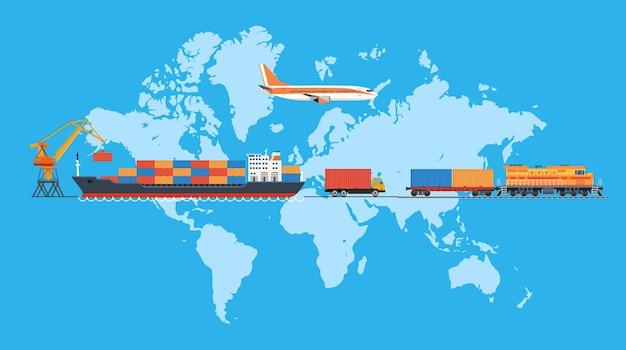 Trasporto logistico delle merci.