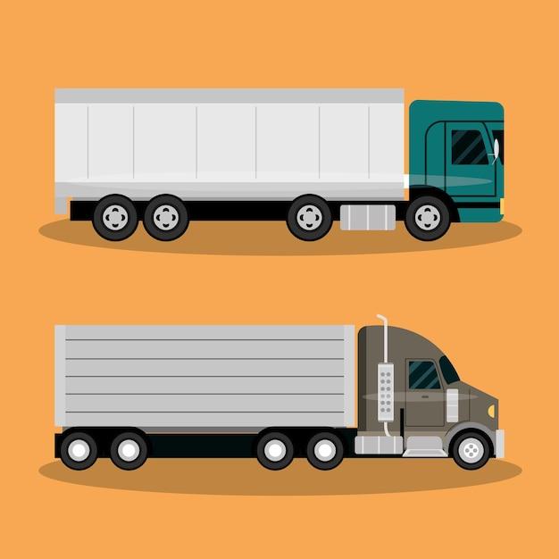 Trasporto su camion, consegna, consegna veloce o illustrazione di trasporto logistico