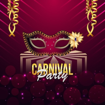 Cartolina d'auguri o poster del partito di carnevale brasiliano con tendone da circo