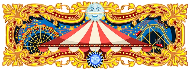 Banner di circo di carnevale