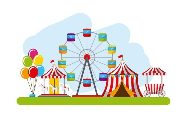 Carnevale fun fair festival circus park