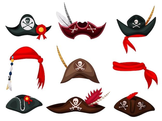 Illustrazione della maschera del pirata di carnevale