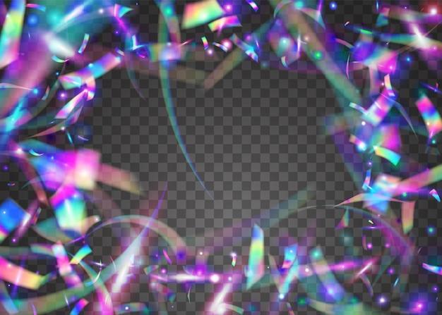 Orpello di carnevale. glitter viola laser