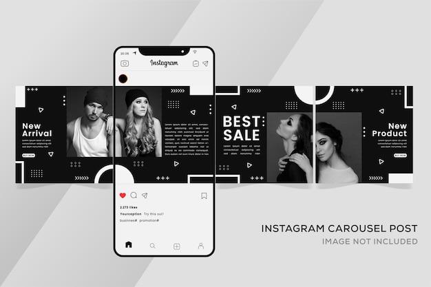 Banner di modelli instagram carosello