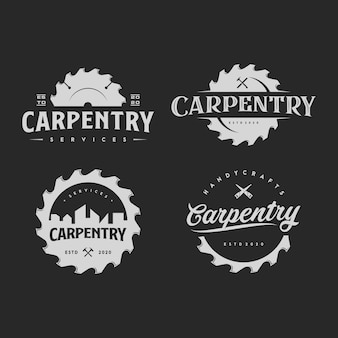 Illustrazione del logo del carpentiere