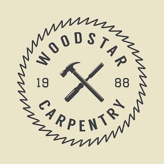 Emblema di carpenteria e meccanico