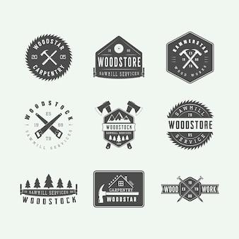 Emblemi di carpenteria e meccanico