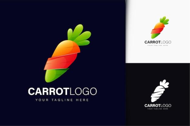 Design del logo della carota con gradiente