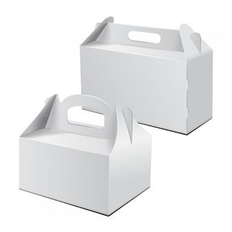 Trasportare l'imballaggio. set di vector mockup.
